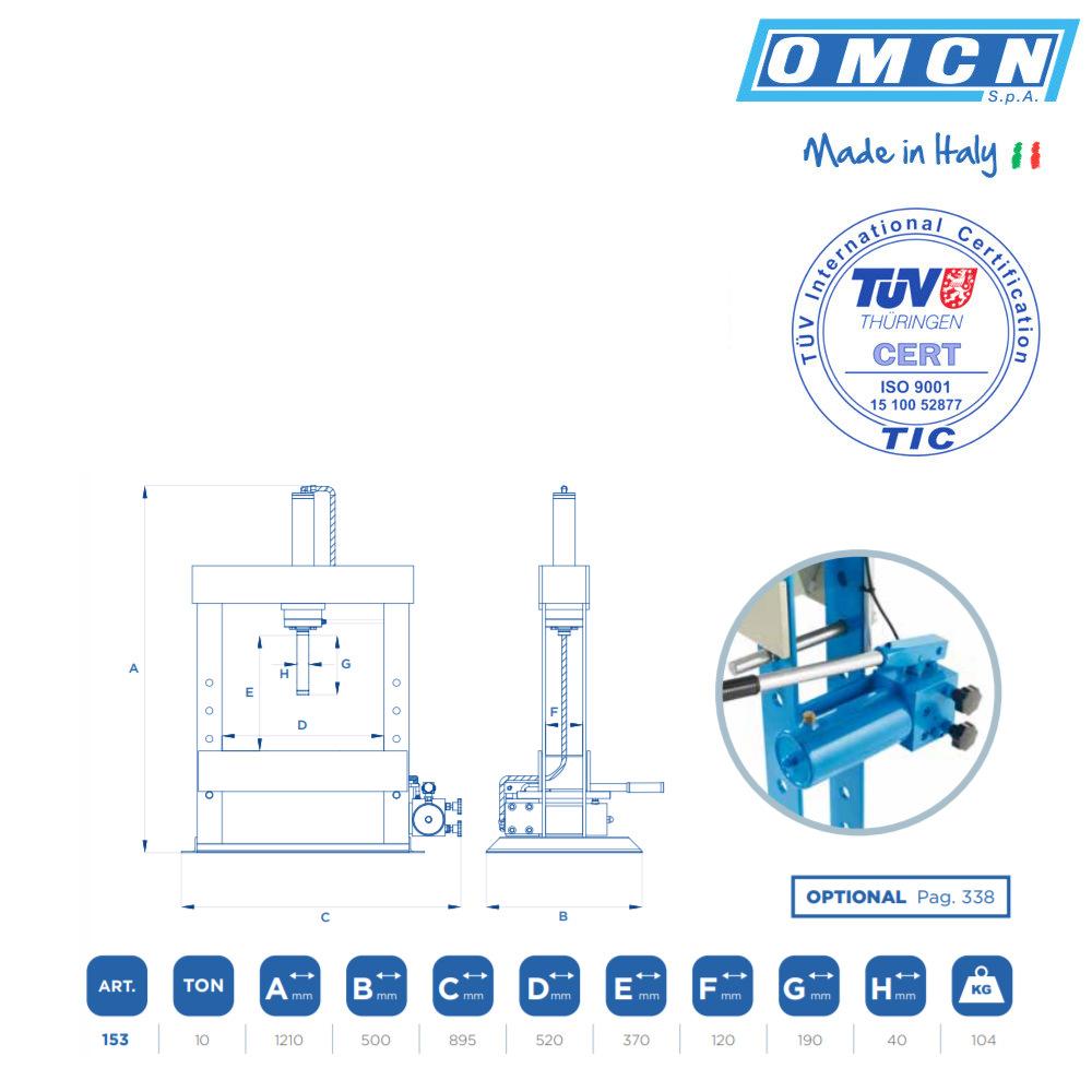 OMCN 153 Technische Daten